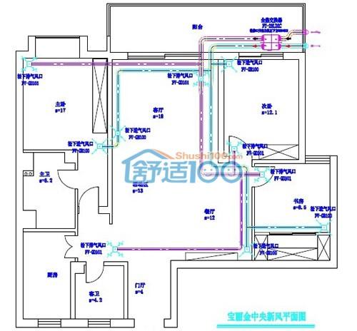 5)管路材料采用upvc管与复合软管相结合的施工方法,适用于通风主机.